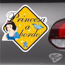 Adesivo Bebê A Bordo - Princesa A Bordo - Branca De Neve