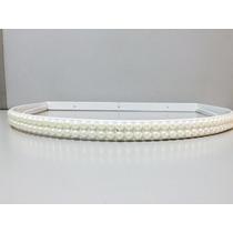 Dossel Branco Decorado Pérolas+ Véu Mosquiteiro Tecido Tulle