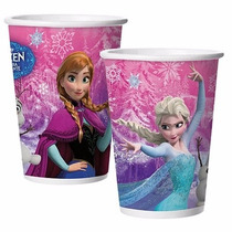 Copo Aniversário Festa Infantil Princesa Frozen 180ml 24 Uni