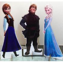 3 Display De Chão Frozen Totem - Elsa, Anna, Kristoff 90 Cm