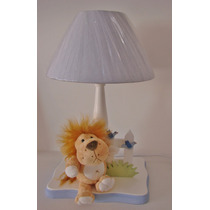Leão Abajur Luminaria Safari Floresta Bebê Infantil Zoo Luz