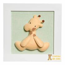 Quadro Enfeite Decorativo Quarto Bebê Infantil Girafa