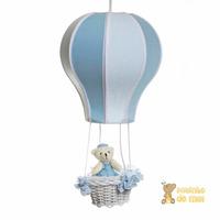 Lustre Balão Balãozinho Acinturado Cesta Urso Quarto Bebê