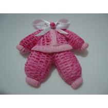 Kit 50 Lembrancinha Maternidade Nascimento Biscuit Menina 07