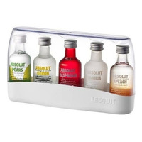Vodka Absolut Kit Com 05 Sabores Com Caixa Original Lacrada