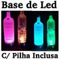 Base De Led Luminosa C/ Pilhas Inclusas - Vodka, Big Apple