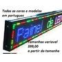 Letreiros Eletronico Digital Led Painel Programav 1mt X 20cm