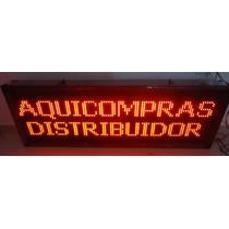 Painel Display Letreiro Led Luminoso 100 X40 Cm Aquicompras