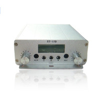 Transmissor De Fm 15w Estéreo C/ Lcd Pll Grande Alcance
