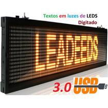 Painel Led Letreiro Digital Projetor Digitado Indoor 1mt