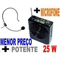 Amplificador C/ Microfone Para Palestrantes E Professores.