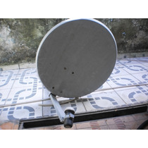 Antena Satélite Banda Ku 60cm Completa Usada
