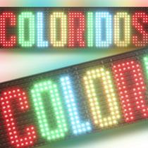 Painel Letreiro Rgb De Led Mensagem Colorido / 288x64 Cm