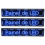 Painel De Led 1mtx20cm Display Letreiro Digital Ver/azul/bra