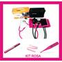 Estetoscopio,esfigmomanometro,termom,lanterna,garrote - Rosa