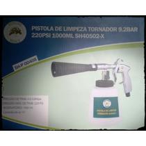 Pistola Tornador De Limpeza Higienização Rolamentada Black