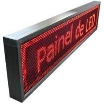 Painel De Led Letreiro Digital Usb 100x20cm Colorido Cracha