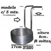 Chiller\resfriador De Imersão Aluminio 3/8..fab. Artesanal.