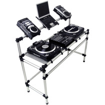 Rack Para Technics Mk2 Ou Audio Technica + 1 Mixer + 2 Cdjs