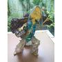 Gnomo Escultura Artesanal Feito Com Cascas E Epoxi