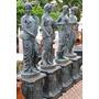 Estatua Estações Do Ano Ferro Fundido 242 Cm C/ Base - Ef136