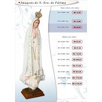 Imagem De Nossa Senhora De Fátima Em Resina Portuguesa 105cm