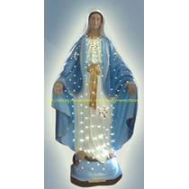 Escultura Nossa Senhora Graças Iluminada Imagem 60cm Fabrica