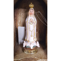 Nossa Senhora De Fatima Imagem Resina Escultura 9cm