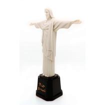 Escultura Cristo Redentor Em Resina 24cm