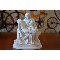Escultura Pietá Michelangelo Po Marmore 12cm Made Italy
