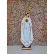 Imagem De Nossa Senhora De Fátima Em Resina 1m20cm Com Coroa