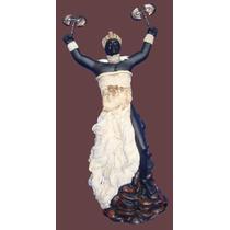 Imagem Orixá Xangô Africana 40cm Veste Branca
