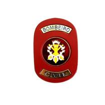 Distintivo Bombeiro Civil Vermelho Tatico