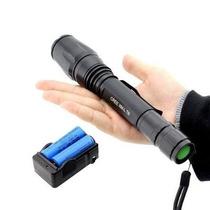 Lanterna Tática Led T6 Police 2 Bateria Recarregável Case