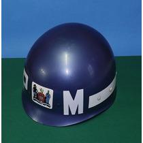 Capacete Original Policia Militar P M Antigo Anos 70