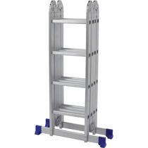 Escada De Aluminio Dobravel 4x4 Multifuncional Suporta 150kg