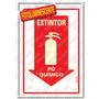 Placa Sinalizadora Extintor Pó Químico 20 X 30cm - Sinalize