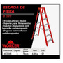 Escada De Fibra 8 Em 1 Worker 3 Degraus