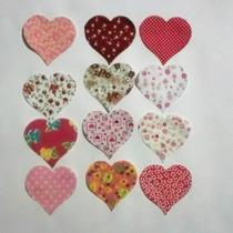 Tecidos Cortados- Coração Pequeno 50unidades Patchwork