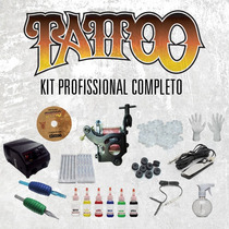 Kit Tatuagem Profissional Completo ( Kit Tattoo ) Com Vídeo