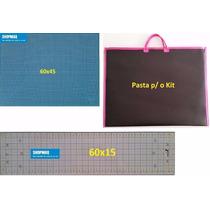 Base De Corte 60x45 + Regua+ Pasta A2 Patchwork ,scarpbook