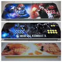 Controle Arcade Duplo Ps3 E Pc Ou Ps2 E Ps1 Fliperama
