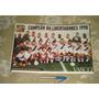 Vasco Campeão Libertadores 1998 Santos Viola Poster Placar