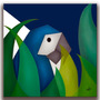 Quadro Decorativo Gravura Tela Painel Cubismo Araras1 70x70