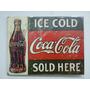 Quadro Placa Madeira Anos 50 Coca Cola Anúncio Antigo Coke