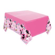Toalha De Mesa Do Bolo - Festa De Aniversário Minnie Rosa
