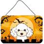 Halloween White Recados Poodle Ou A Suspensão Da Porta Prin