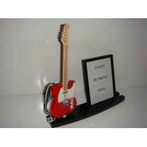 Porta Retrato 10x15 Com Miniatura De Guitarra Tele