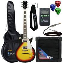 Kit Guitarra Les Paul Clp79 Sunburst Strinberg + Cubo + Aces