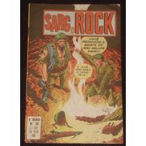 O Herói Nº 34 (2ª Série) - Sarg Rock - Ebal - 1980